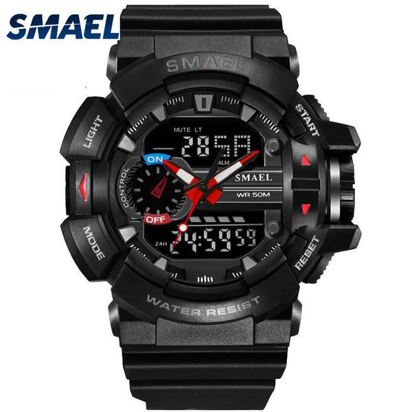 2017 Relogio Masculino SMAEL Sport Casual Watches LED Digital Watches Men Clock DATE 1436 Men's Wrist Watch Clock Men