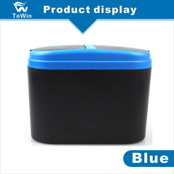 Black Plastic Cover Car Ashtray Trash Bin Garbage Container,Mini Auto Trash Rubbish Can Garbage Dust Case Holder/Smoking/Convenient/clean