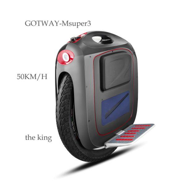 Gotway-Msuper3 820WH Attrezzature per il fitness all'aperto, monociclo elettrico, una ruota più pulita La velocità veloce 50KM / H, vita 60-80KM tassa gratuita
