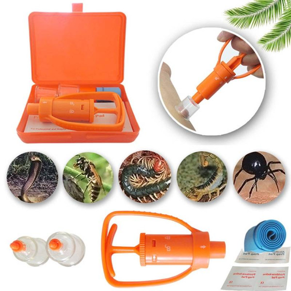 free shipping Venom Extractor Pump First Aid Safety Kit Emergency Snake Bite Outdoor Camp Emergency Gear Outdoor Safety Bee Snake Bite Kit