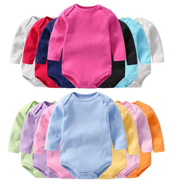Langarm baby body jungen mädchen körper anzug baby infant baumwolle körper anzug viele arten packung von 5