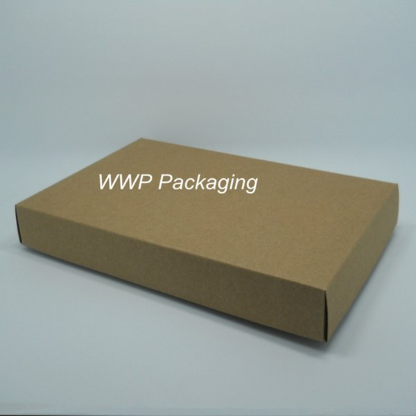 Wholesale-10Pcs/ Lot Party Gift Postcard Jewelry Kraft Paper Packing Box 23.3*15.2+3cm Vintage Craft Paper Cardboard Pack Boxes With Lid