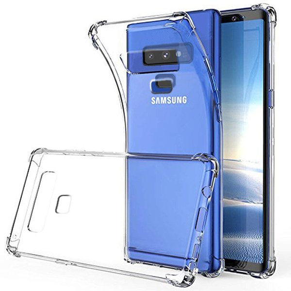 Crystal Clear Reinforced Corners TPU Bumper Cover Case For Samsung Note 9 S9 S9 Plus Anti-knock Silicon Case Cover