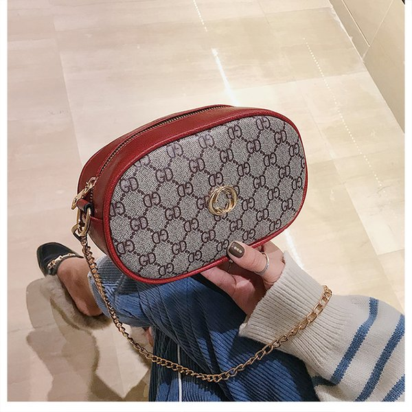 China Girl Circular Chain Bags Shoulder tote Handbags Lady Messenger Bags Famous Brand Women Strap Cross body bags Hecai /10