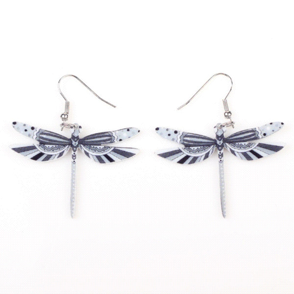 Fashion Dangle Dragonfly Earrings Acrylic Long Drop Earring New Arrival 2015 Spring Summer Style For Girls Women Jewelry