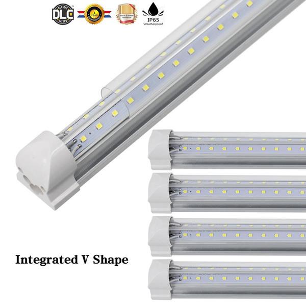 V-Shaped 3ft 4ft 5ft 6ft 8ft Cooler Door Led Tubes T8 Integrated Led Tubes Double Sides SMD 2835 Led Fluorescent Light AC 85-265V CE SAA UL