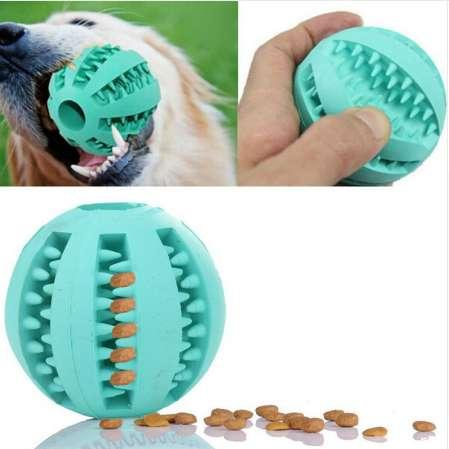 New pet Decompression elastic rubber ball Puppy stretch ball dog Interactive toy cleaning tooth ball Dog Chew toy