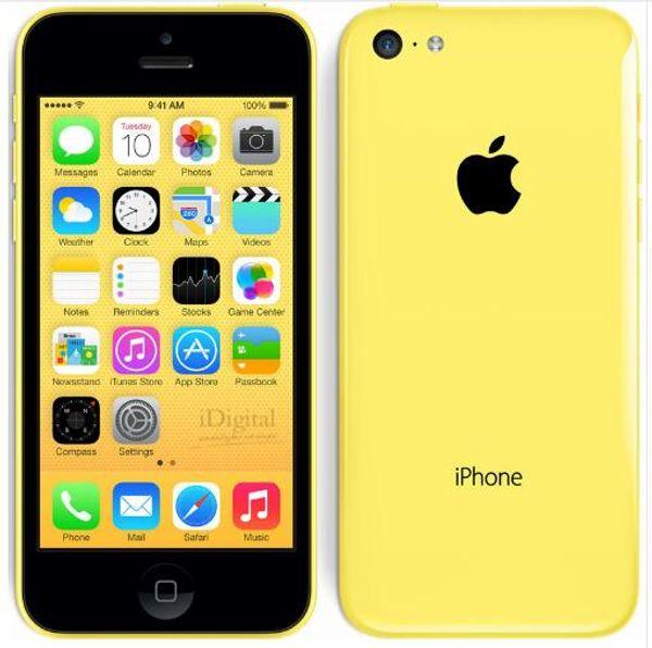 Original Unlocked iPhone 5C 4.0 Inch Dual Core 1GB RAM 8/16/32GB ROM 8MP Camera WCDMA IOS 640x1136 Touch screen refurbished Phone