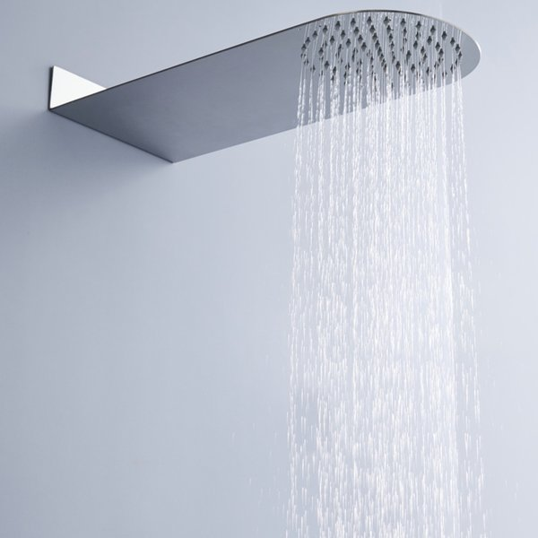 wall mounted round rainfall shower head concealed Ultra thin stainless steel bathroom shower faucet