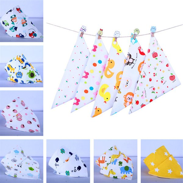 Unisex  Baby Kids Burp Feeding Bibs Saliva Towel Dribble Triangle Bandana LC