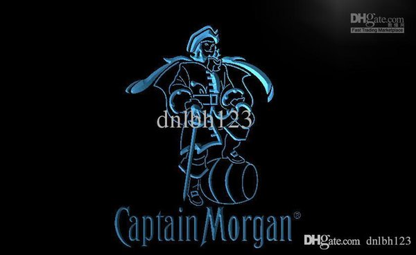 LE138- Captain Morgan Spiced Rum Bar NR LED Neon Light Sign