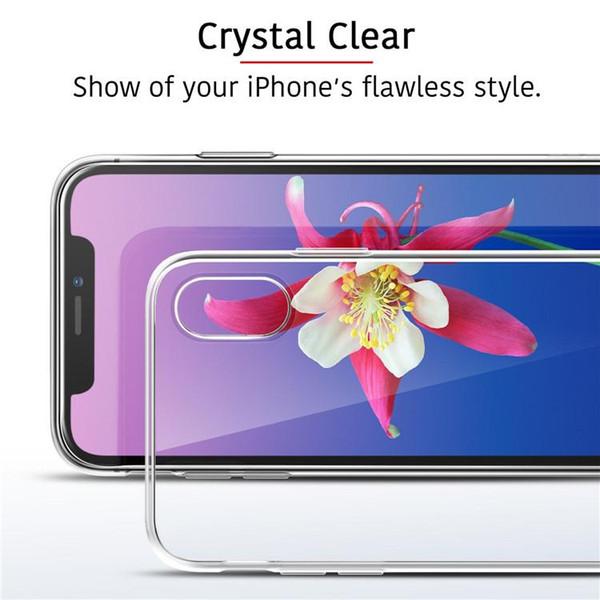 Новый iPhone Чехол для iphone XS MAX XR x 8 sumsang Примечание 9 S7 0.3 мм Кристалл гель чехол ультра-тонкий прозрачный мягкий ТПУ ясно телефон случае на складе