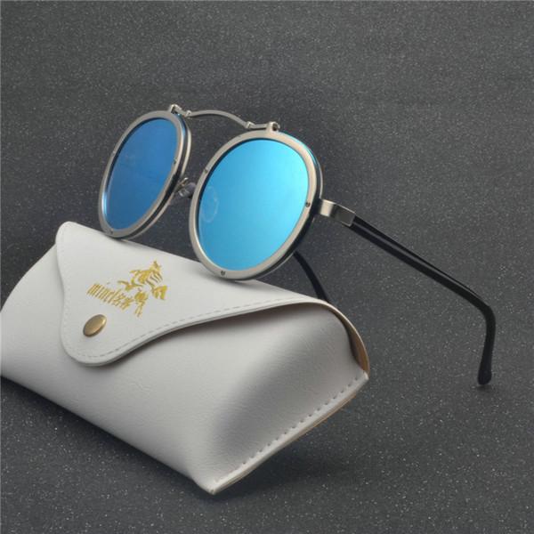 2018 New Fashion Cadre Punk Style Side lunettes de soleil Hommes Marque Designer Vintage Lunettes De Soleil Lunettes De Protection NX