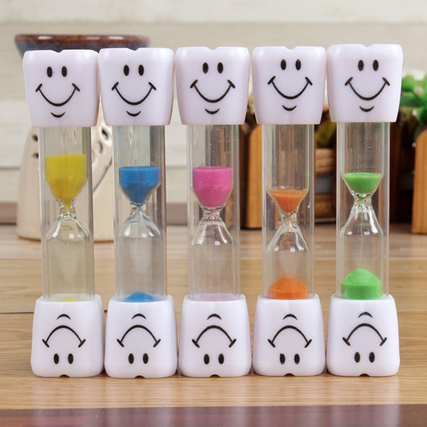 best selling Sand Clock 3 Minutes Smiling Face The Hourglass Decorative Household Kids Toothbrush Timer Sand Clock Gifts Ornaments Christmas HH7-1781
