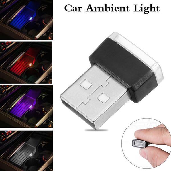 USB LED mini Wireless Car Interior Lighting Atmosphere Lights Accessorio per lampada da casa Universale