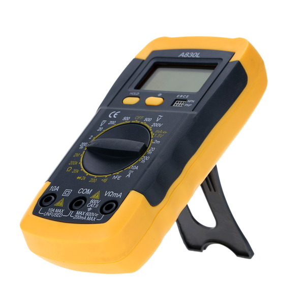 LCD Digital Multimeter Voltmeter Ammeter Ohmmeter tester for AC/DC voltage AC current resistance diode continuity and hFE test