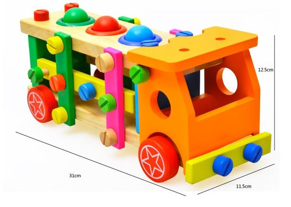 Little boy gift sets, nuts and screws, assembled blocks, children's puzzle toy car, 3-7 years old