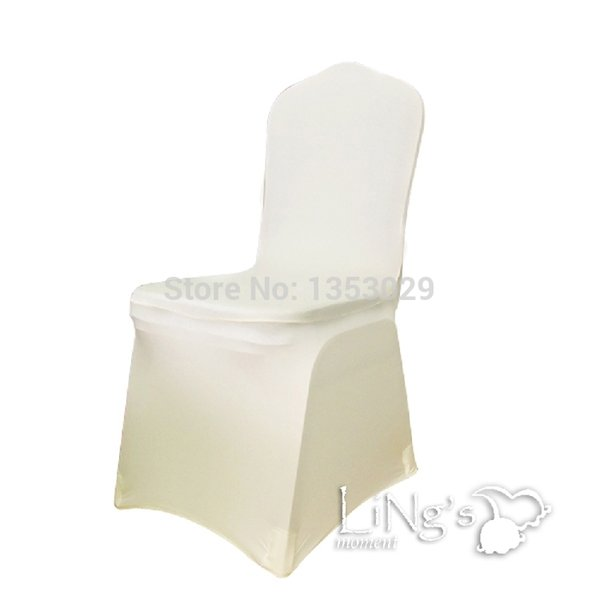 Wholesale-Free Shipping SPANDEX CHAIR COVER White/Beige/Black Color Spandex Lycra Chair Cover for Wedding Party Hotel Banquet Decorations