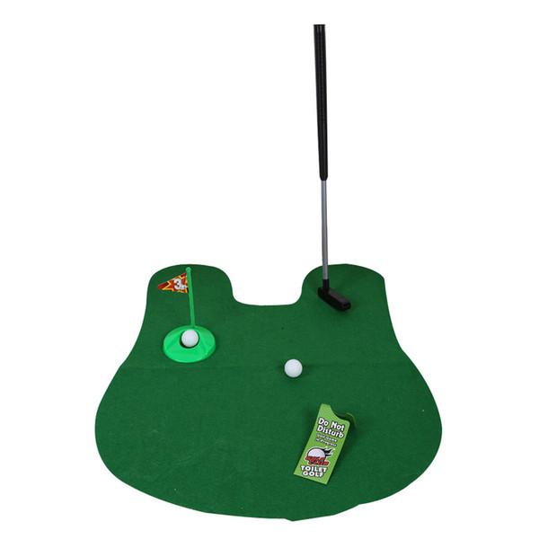 Potty Putter Toilette Mini Golf Jeu Set Toilette Golf Putting Drôle Nouveauté Jeu Golf Formation Euipment Accessoires Vert