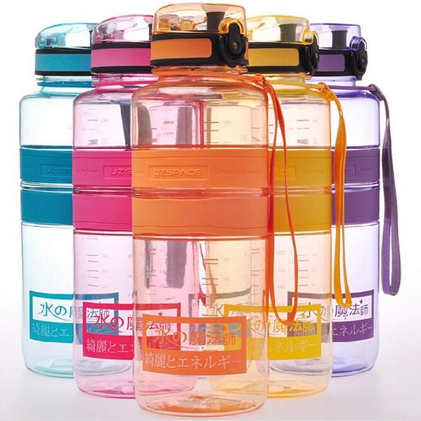 1500 ml Hohe Qualität BPA FREI Tritan Wasserflasche Raum Tasse Outdoor Tragbare Sport Reisebecher Wasserflaschen Mit Seil