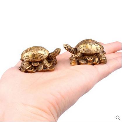 Neupreis Direktverkauf Boutique Kupfer Kupfer Schildkröte Ornamente spezielle Trompete Schildkröte Ornamente Feng Shui Möbel