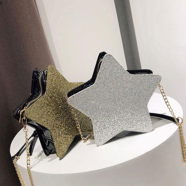New Arrival Sequins Women Bags Fashion Small Star Shape Bag Simple Luxury Shoulder Bag Casual Crossbody Packet Bolsa Feminina