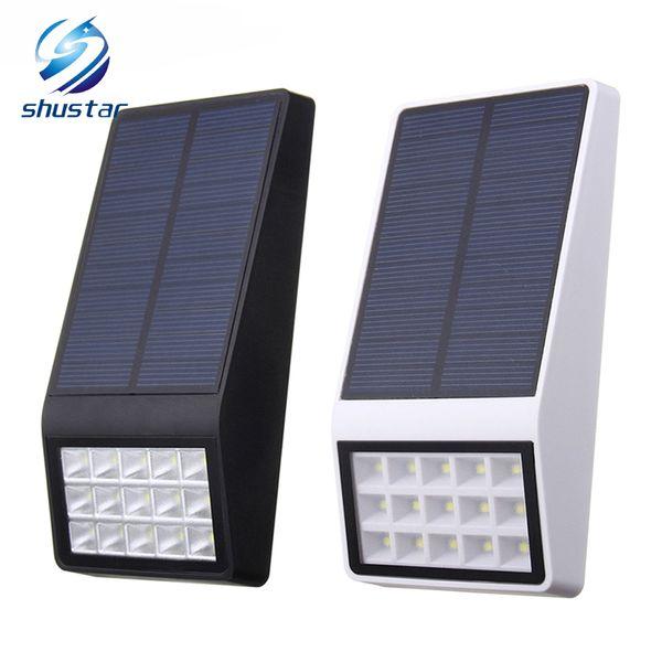 Capteur de mouvement radar solaire de lumière solaire de jardin solaire 15 LED lumière clôture extérieure mur lampe solaire décoration de Noël