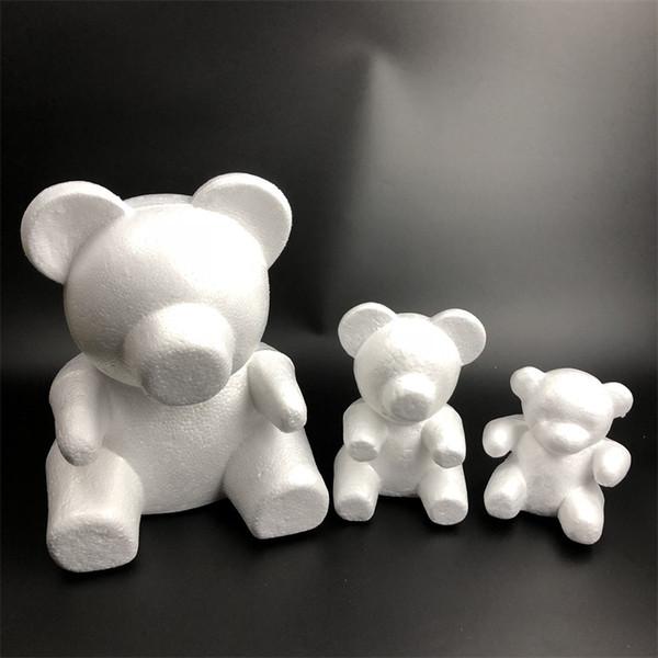 Роза медведь цветок медведь 15 см 20 см, 35 см, 0 см, 60 см и т. Д. Размер пены эмбриона roseonly медведь плесень пены пластиковые цветок искусственные цветы плесень