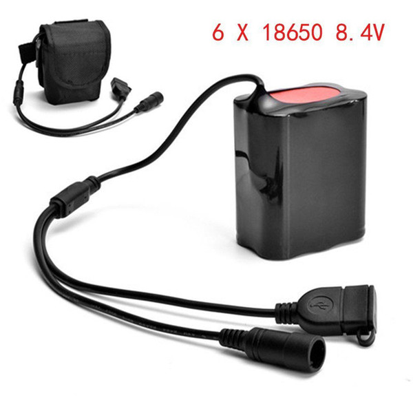 8.4V USB Rechargeable 12000mAh 6X18650 Battery Pack For Bicycle light Bike Outdoor Cycling Hiking Accessories Top Quality Mar 10