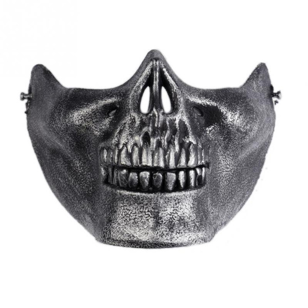 1pcs Skull Skeleton Masks Gift Horror Army Fans Stage Props Airsoft Paintball Half Face Protective Mask For Halloween