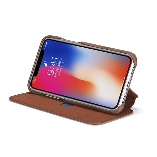 Ultra Mince Flip En Cuir Vertical Étui Portefeuille Étui Magnétique Stent Téléphone Coque Support Carte Slot Titulaire D'embrayage Couverture pour iPhone X 7 Samsung