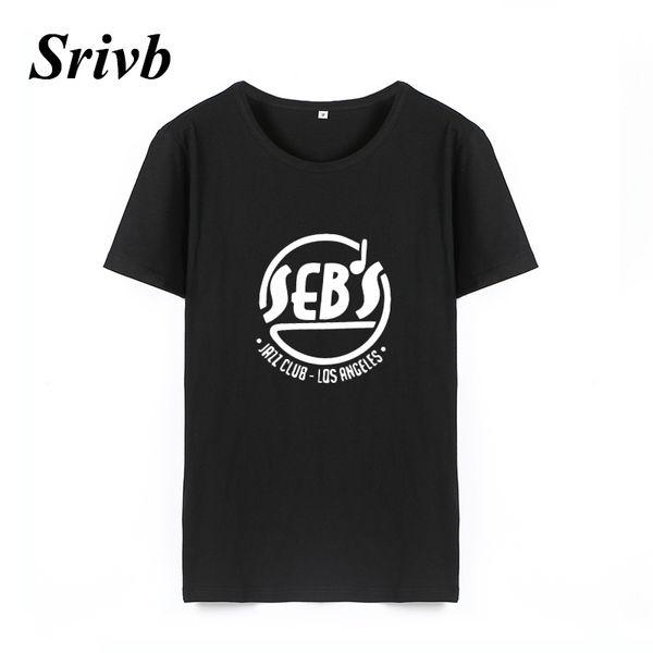 Kadın Tee Srivb 2018 Yaz Pamuk Grafik Tee Kadınlar Femme Siyah Beyaz Gevşek Moda Kadın T-shirt Harajuku Komik Hipster Kadın Tshirt