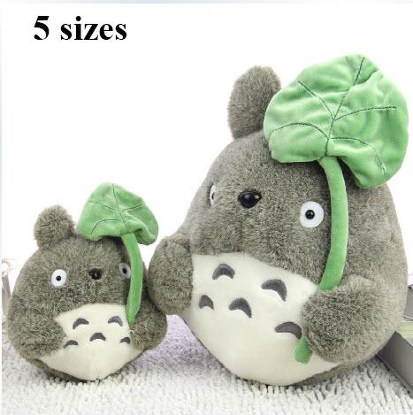 Lotus Leaf Totoro Stuffed Plush Doll 5.8in Animated Totoro Figure Soft Toy Japan Cartoon Umbrella Totoro Kids Toy