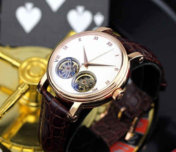 aaa Men's luxury watches, top-level dual Tourbillon automatic mechanical movement, luxurious, extraordinary and simple atmosphere style.