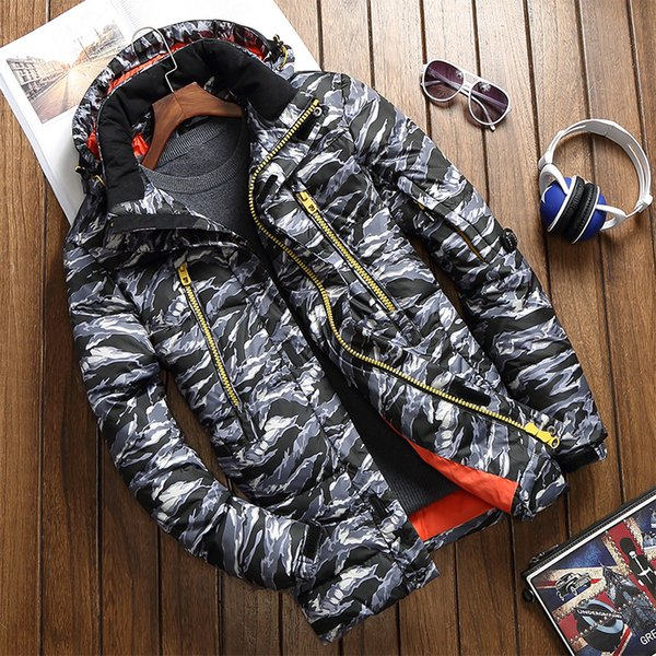 2018 White Duck Down Male New Slim Thickened Korean Large Short Code Youth Season Winter Coat Clearance Down Jacket Men