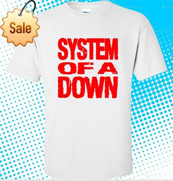 2018 Crossfit T Shirts System of a Down Logo Rock Music Men's White T shirt size S to 3XL Plus Size Casual Clothing