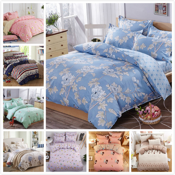 Adult Kids Child 3/4 pcs Bedding Set Quilt Duvet Cover Bedspreads Sheet Pillow Case Bed Linens Single Full Queen King Big Size