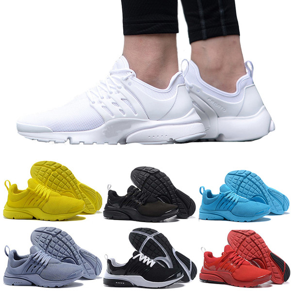 2018 casual Shoes prestos BR QS Breathe Yellow Black White Mens Women ports Shoe Sneakers Walking designer shoes Size 36-45