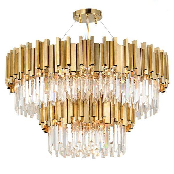 Светодиодные ясно K9 Кристалл и золото свет стенд потолочные светильники светильник лампы люстры подвесные светильники Освещение с светодиодные лампы