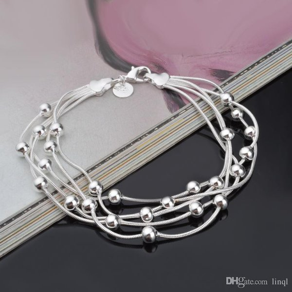 2017 High quality 925 sterling silver nice chain bracelet street style fashion jewelry Christmas gifts low price free shipping