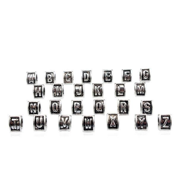 A B C Letter 26 Alphabet Triangle Charm Bead Fashion Women Jewelry Stunning Design European Style For Pandora Bracelet