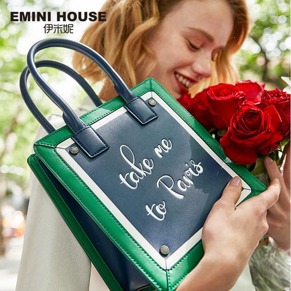 EMINI HOUSE Paris Series Borsa a tracolla per le donne Borse a tracolla Borse di lusso Borse donna Designer Borse e borsette in pelle Split D18102407