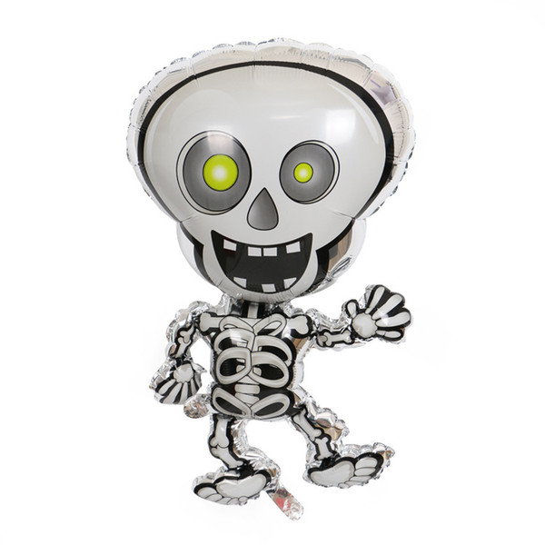 Cartoon Dancing Skeletons foil balloons skull cheap Halloween Party decoration ballons kids Helium globos inflatable toys