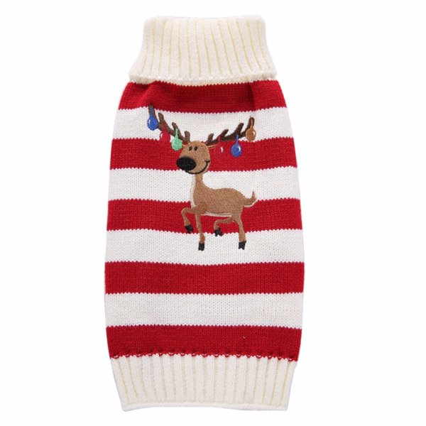 Pet Clothes Dog Sweater knitting Autumn Winter Warm Crochet Clothes For Dog Chihuahua Christmas bells Reindeer dog clothing