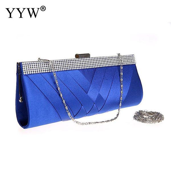 Wholesale Geometric Silk Clutch Bags for Women 2018 Frame Evening Bag with Rhinestone Luxury Handbags Designer Shoulder Bag