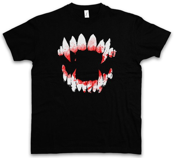 VAMPIRE DENTITION SWEATSHIRT T-SHIRT True Bite Teeth Jaws Blood Dracula funny 100% Cotton t shirt harajuku Summer 2018 tshirt