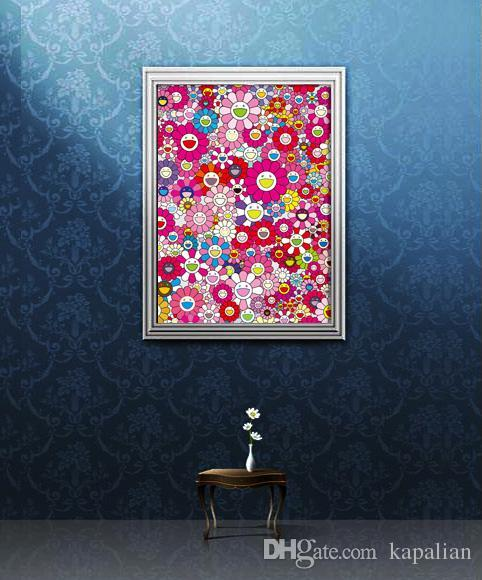 Takashi Murakami Un hommage à yves klein multicolore Affiche d'art Imprimer Photopaper 16 24 36 47 pouces