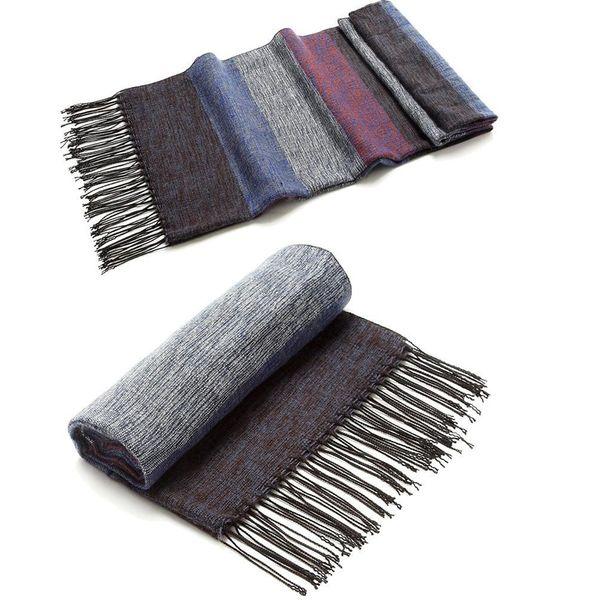 2017 New Scarf Mens Long Silk Thick Warm Winter Scarf Men Fashion Casual Wool Cashmere Plaid Tassel Scarf, EDP001