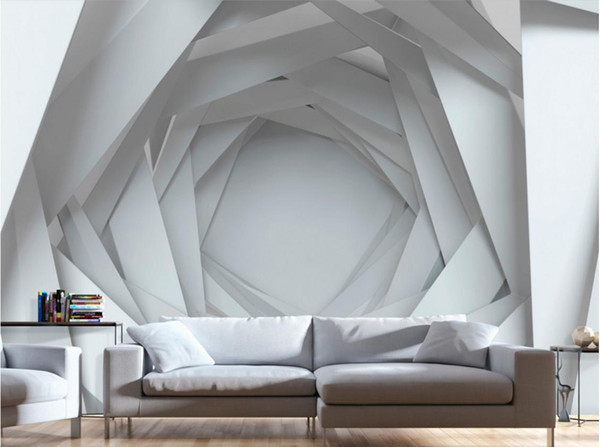 Individuelle tapeten wohnkultur fototapete 3d wohnzimmer wandbilder Kreative TV hintergrundbild für wände 3 d