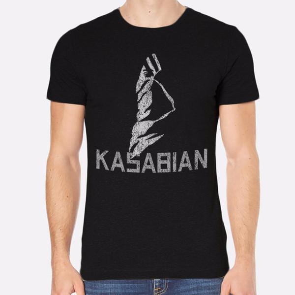 Screen Tees Men's Office O-Neck Kasabian Rock New Men T-Shirt Black Clothing 155 Short-Sleeve Tee